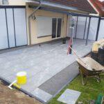 Verlegung von Terrassenplatten