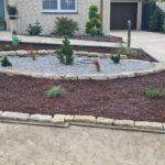Natursteinarbeit im Vorgarten